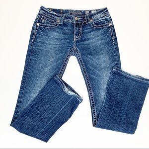 Miss Me Flap Pocket Embellished Boot Cut Jeans